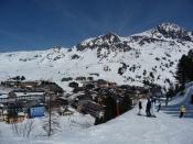 Obertauern falu a sípálya alján