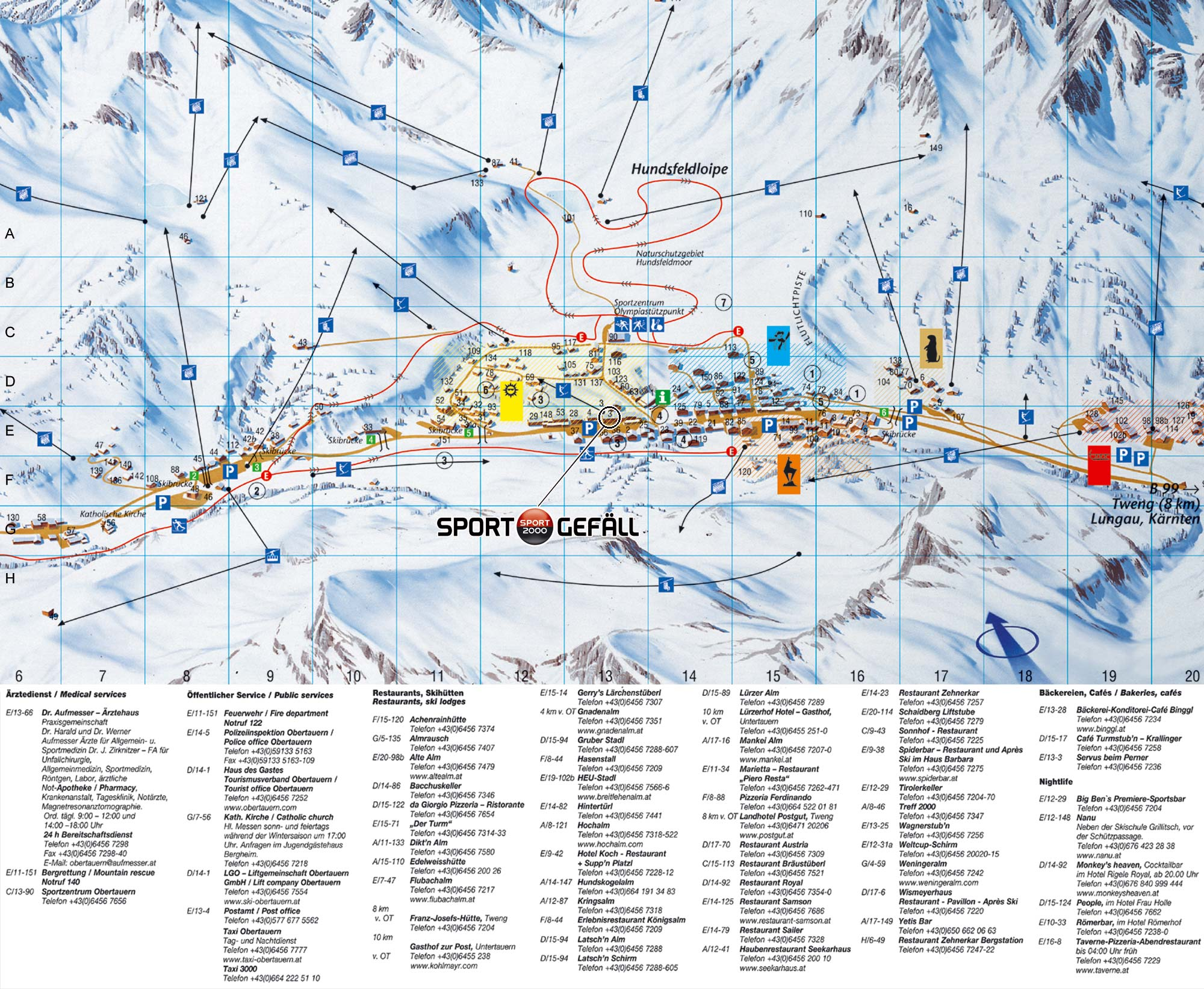 obertauern térkép Térkép | KALANDBÁZIS | Síoktatás felnőtteknek, gyerekeknek, haladóknak