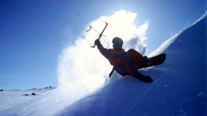 Chill the hill - Snowkite
